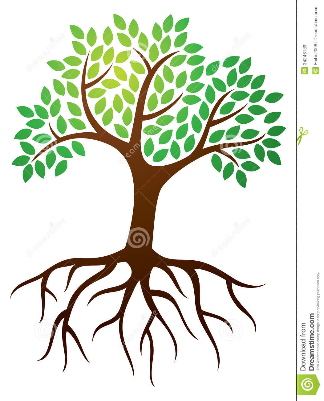 Trees With Roots Clipart - Tree Roots Clipart