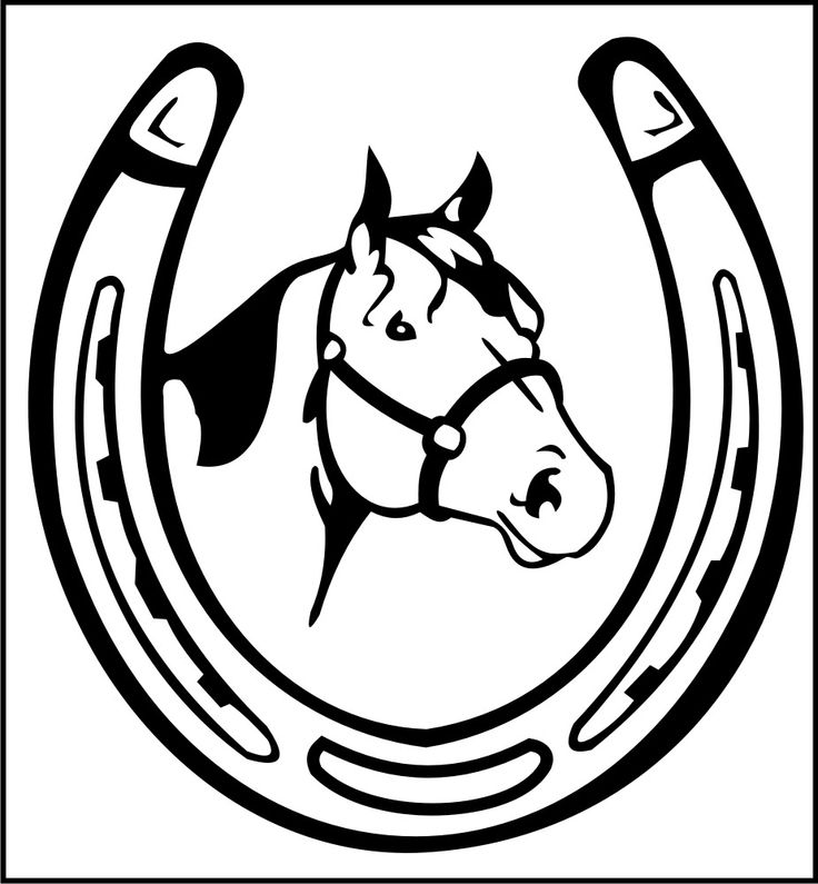 Trends for double horseshoe clipart saddle club horses