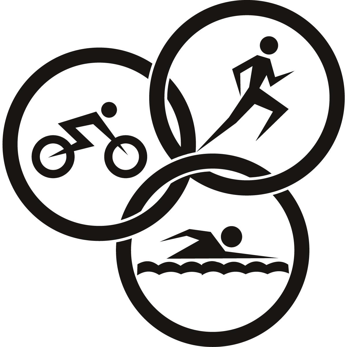 Triathlon Circles Athletics Wall ART Sti-Triathlon Circles Athletics Wall ART Sticker Wall Decals Transfers .-12