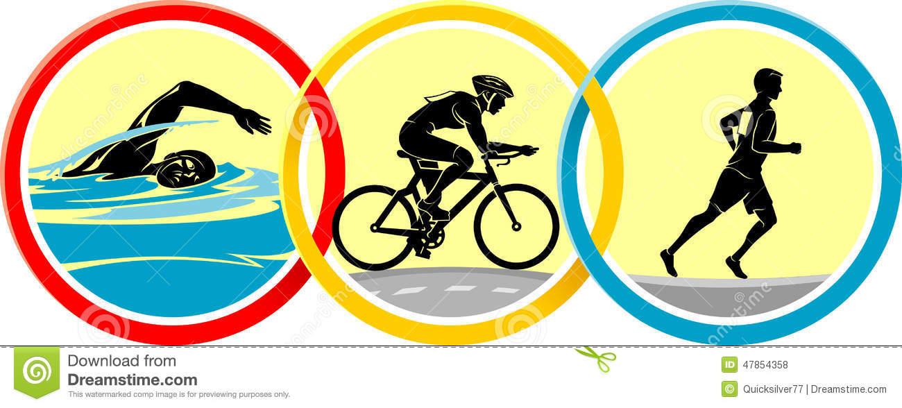 Triathlon Icon Set Royalty Free Stock Ph-Triathlon Icon Set Royalty Free Stock Photos-17