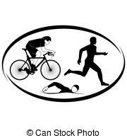 ... Triathlon - Summer Kinds Of Sports. -... Triathlon - Summer kinds of sports. Illustration on a sports.-19