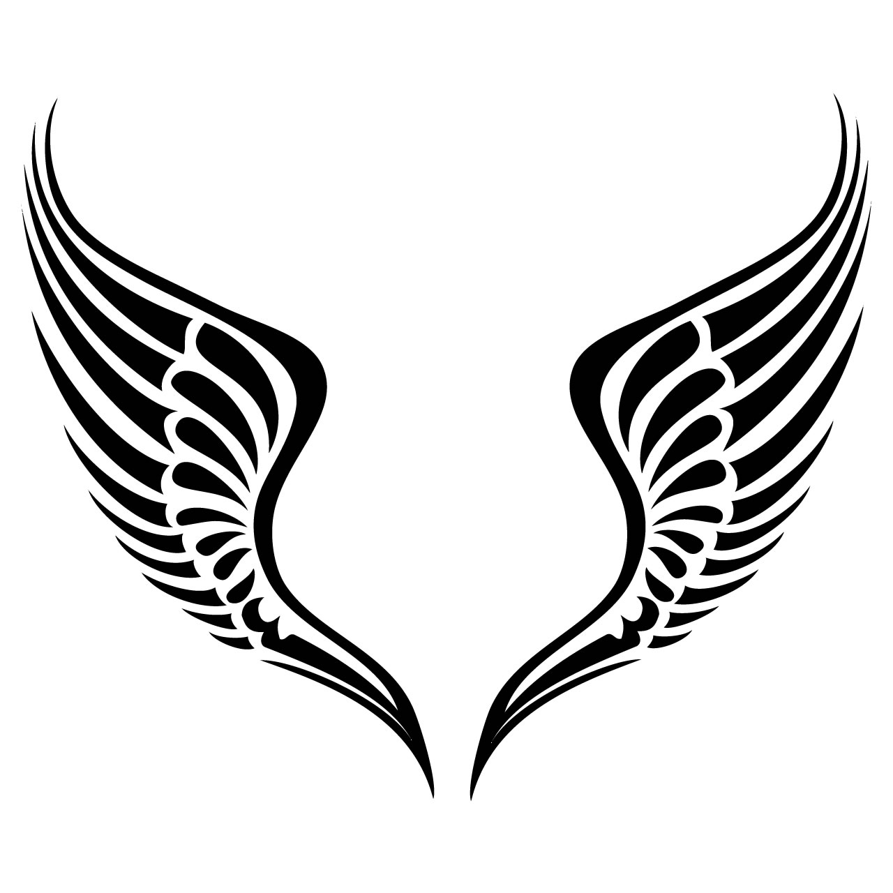 Tribal Wings Clipart Clipart Panda Free Clipart Images