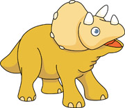 triceratop dinosaur cartoon. Size: 59 Kb