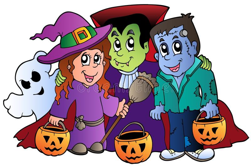 Download Halloween Trick Or Treat Characters Stock Vector - Illustration of  autumn, holiday: 20285609