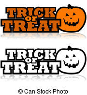 . ClipartLook.com Trick or treat - Cartoon illustration showing a carved.