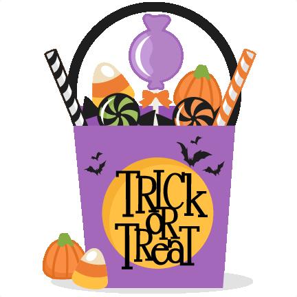 Trick or treat clipart trick or treat clip art trick or treat bag svg  scrapbook cut