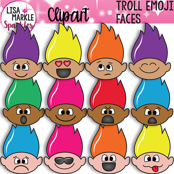 Emoji Clipart, Emotions Clipart, Face Cl-Emoji Clipart, Emotions Clipart, Face Clipart, Troll Clipart, Trolls Clipart,  Summer Clipart, Troll Face Clipart, Spring Clipart, Rainbow from ClipartLook.com -13
