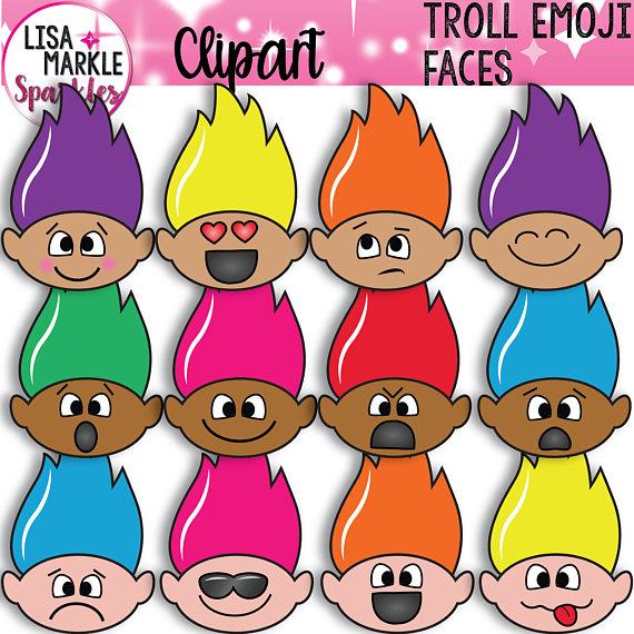 Emoji Clipart, Emotions Clipart, Face Clipart, Troll Clipart, Trolls Clipart,  Summer Clipart, Troll Face Clipart, Spring Clipart, Rainbow from ClipartLook.com