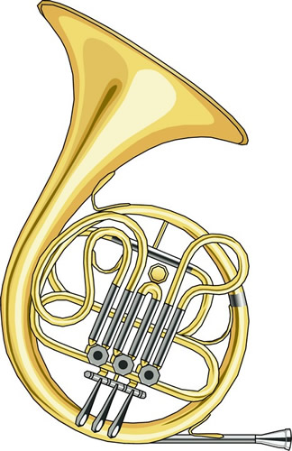 Trombone French Horn Clipart