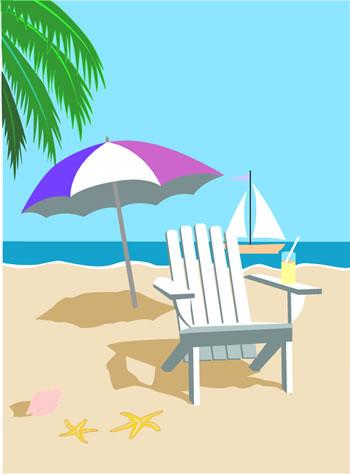 Tropical Beach Clip Art-Tropical Beach Clip Art-1