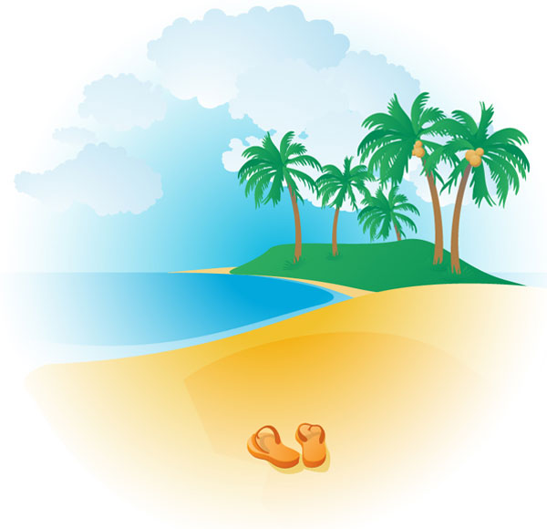 Tropical Beach Clipart | Clipart library - Free Clipart Images