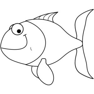 Tropical fish clip art black and white free .