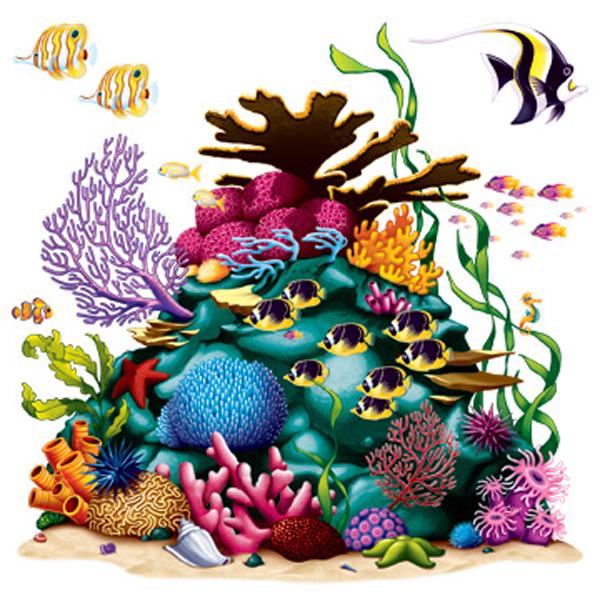 Tropical Fish Coral And Starfish Download Royalty Free Vector Eps u0026middot; Aqua Coral Reef Clip Art ...