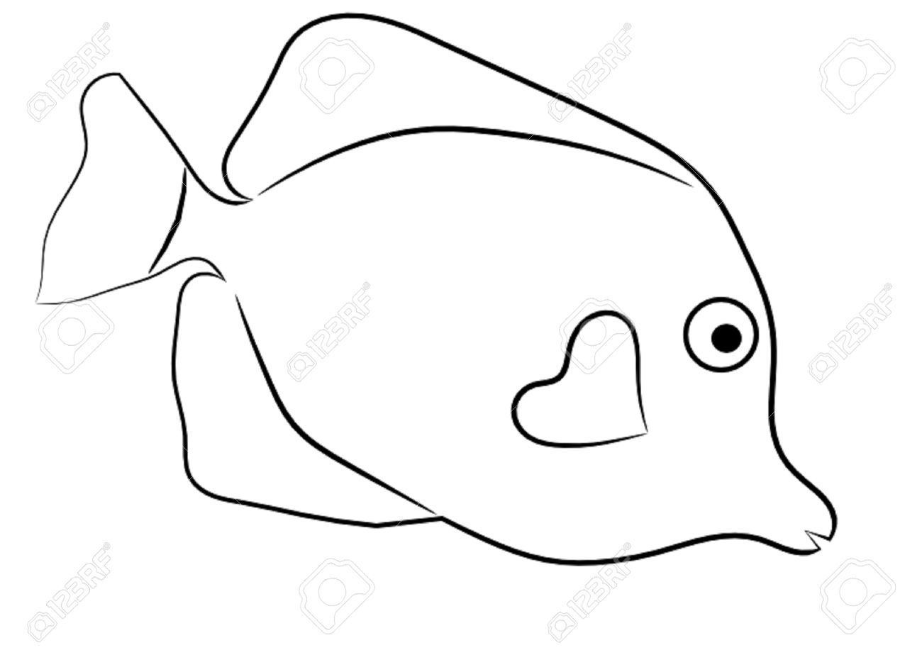 Tropical Fish Outline Clipart-Tropical Fish Outline Clipart-16