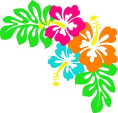 Tropical Flower Clipart. Pin