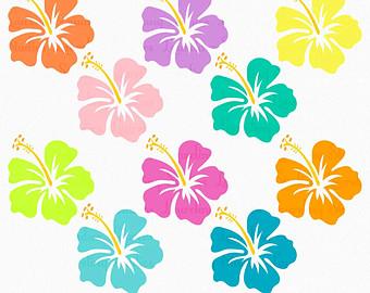 Tropical Flowers Clip Art Border Hibiscus Clipart Flower Luau