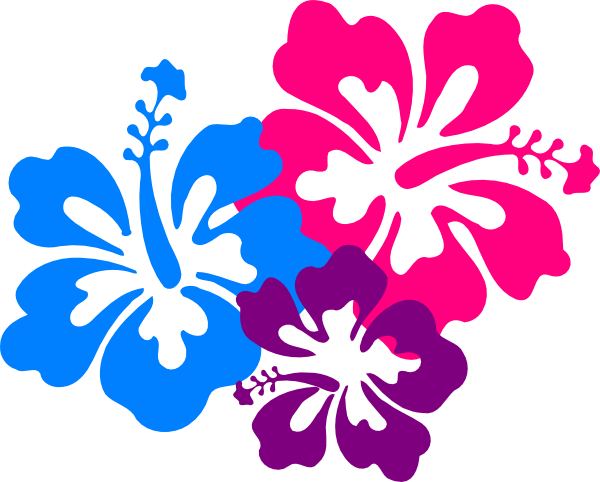 Tropical Flowers Clipart 2