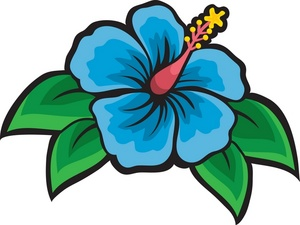 Tropical Flowers Clipart .
