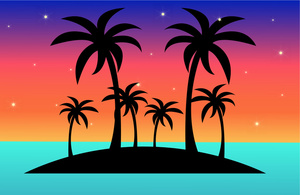 Tropical Island Clipart Image: .-Tropical Island Clipart Image: .-8