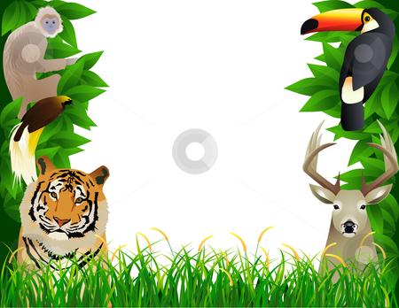 Tropical Jungle Stock Vector Clipart Vec-Tropical Jungle Stock Vector Clipart Vector Illustration Wild Animal-13