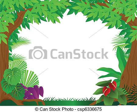 ... Tropical rainforest background