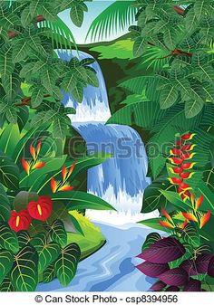 Tropical Rainforest Clip Art-Tropical Rainforest Clip Art-15