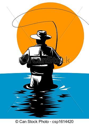 trout fishing clipart-trout fishing clipart-18
