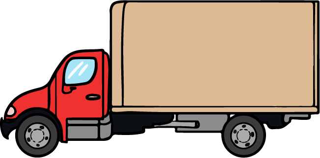 Truck and trailer clipart kid - Delivery Truck Clipart