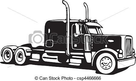 Truck Clip Art Vectorby clipartdesign34/871; Vector Semi Tractor Trailer 18 Wheeler