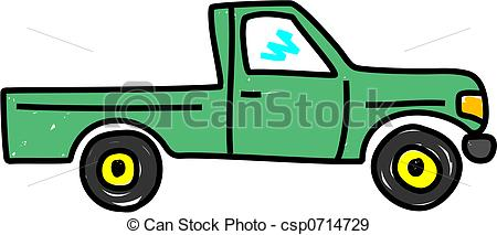 ... truck - green pick up truck isolated on white - truck art... ...