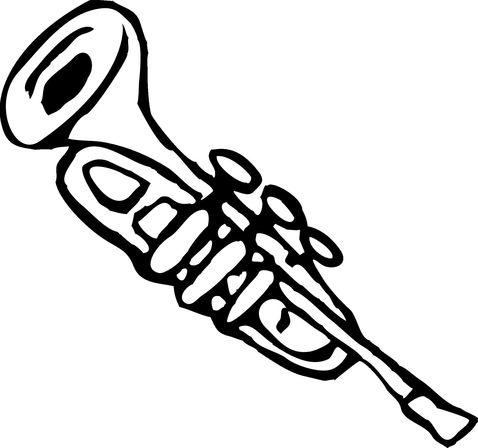 Trumpet Clip Art Trumpet 3 Black White L-Trumpet Clip Art Trumpet 3 Black White Line Art Christmas Xmas Music-13