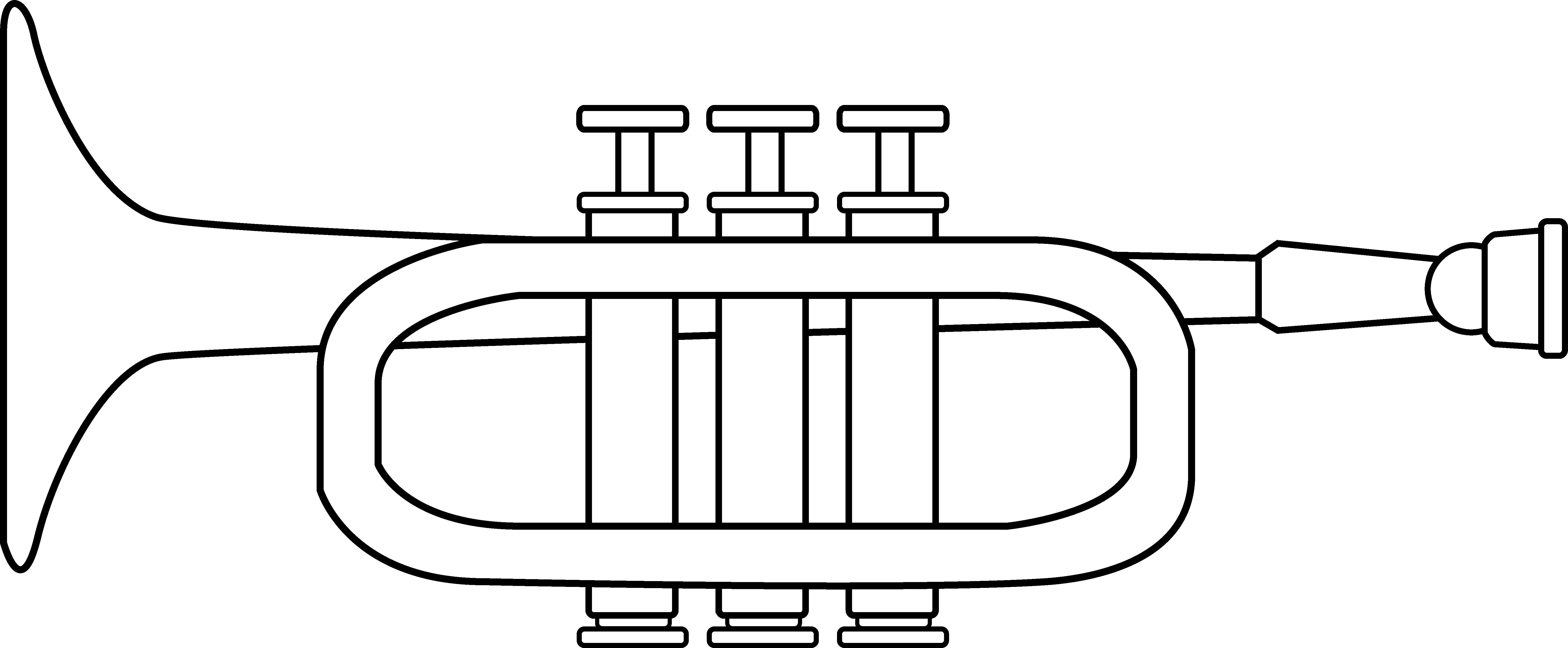 Trumpet Coloring Page Free Clip Art-Trumpet coloring page free clip art-15