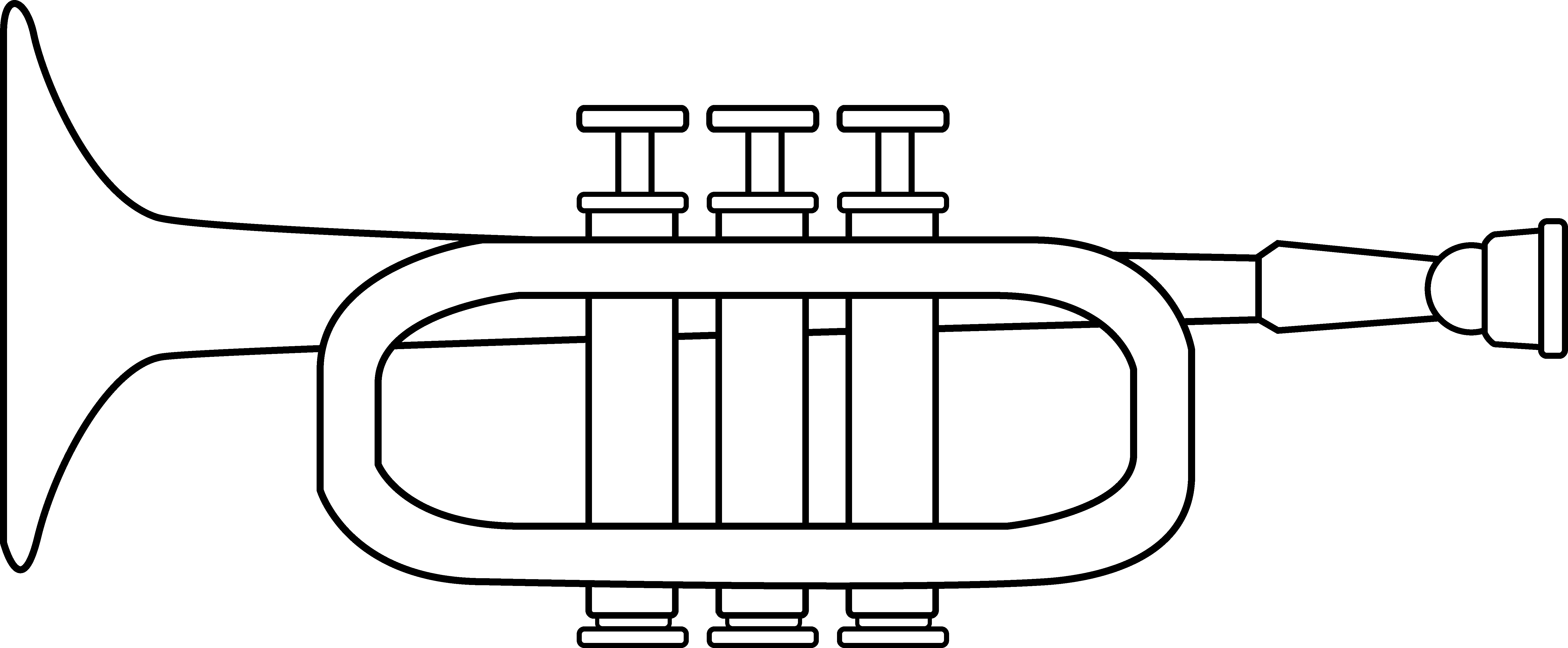 Trumpet coloring page free clip art