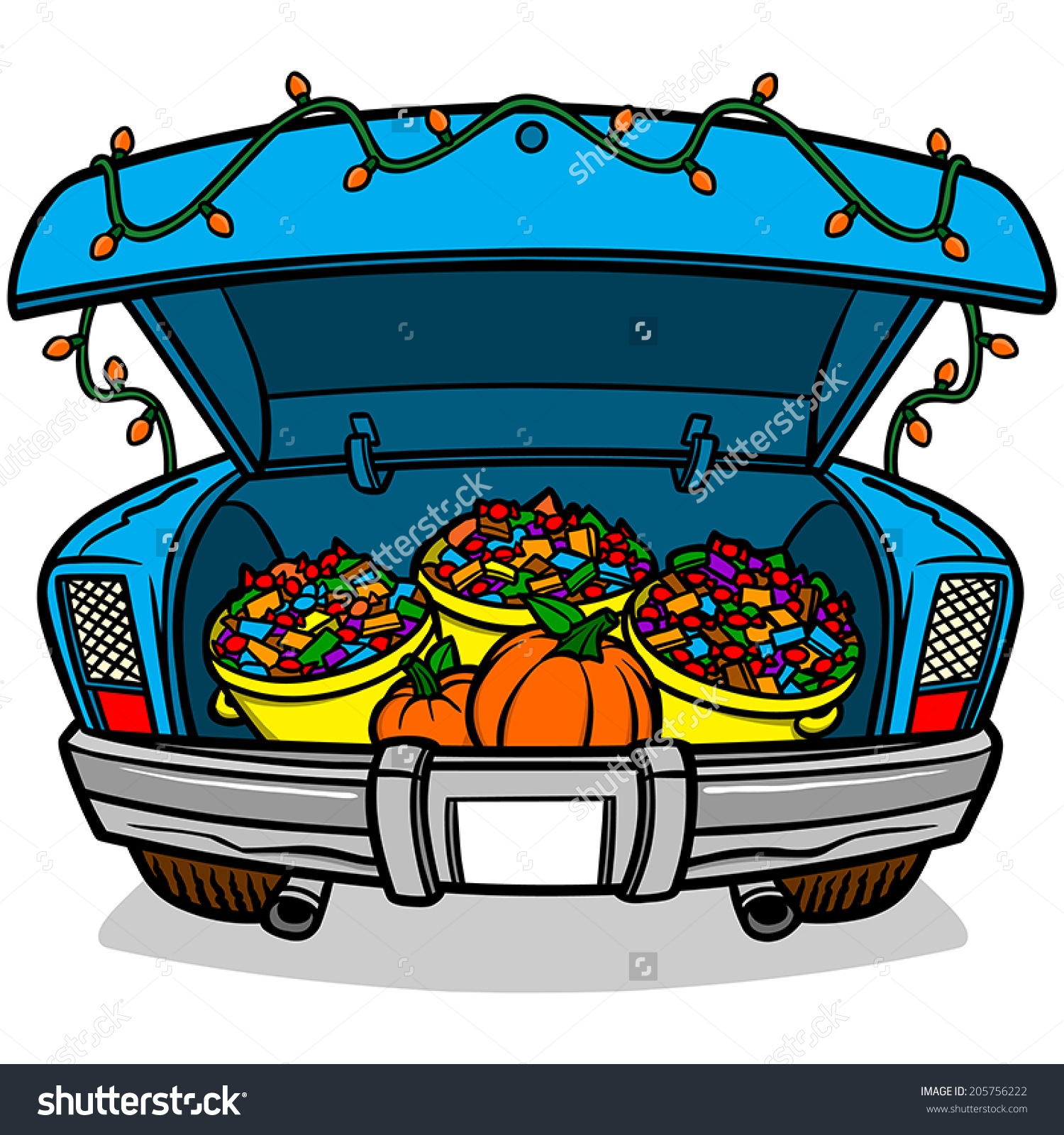 Trunk Or Treat Stock Vector .