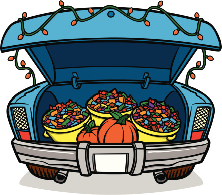 Trunk or treat trunk of a car - Trunk Or Treat Clip Art
