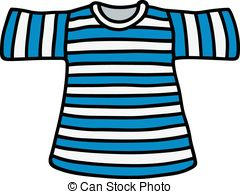 Striped T-shirt - Hand drawing of a classic blue-white.
