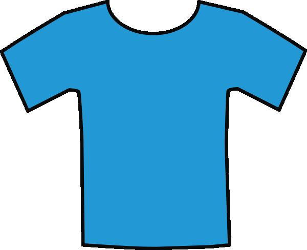 T-shirt Blue Clipart #1