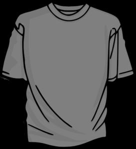 T-shirt-gray Clip Art