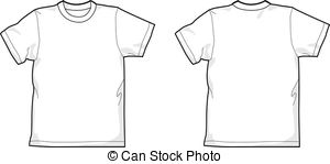 . ClipartLook.com T-shirt - White T-shirt - back and front, round-neck