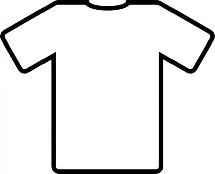 White T Shirt clip art-- for Put On/Put Off Activity (Colossians 3)