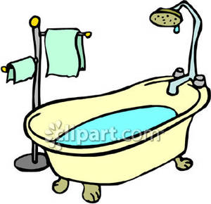 Tub Clipart Old Style Bathtub Royalty Free Clipart Picture 081104