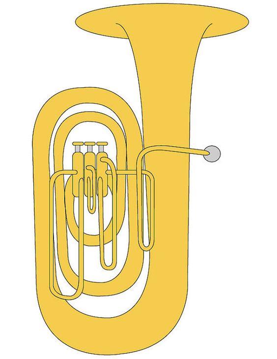 Tuba Clip Art/ Tuba Illustration/ Clip A-Tuba Clip Art/ Tuba Illustration/ Clip Art for Music Students/ Band  Instrument Illustration-9