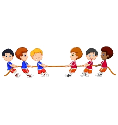 Tug Cartoons Tug Cartoon Funn - Tug Of War Clip Art