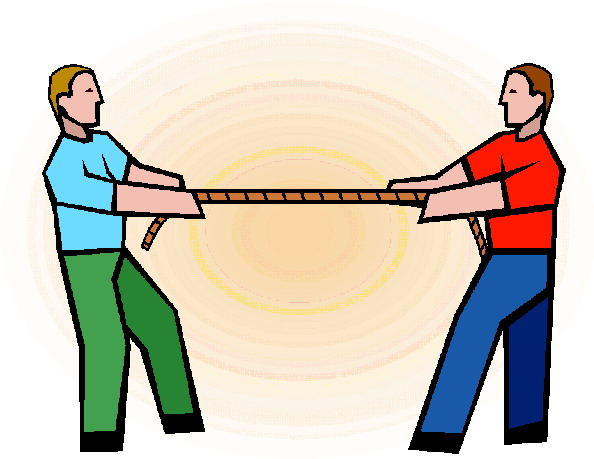 Tug of war clip art