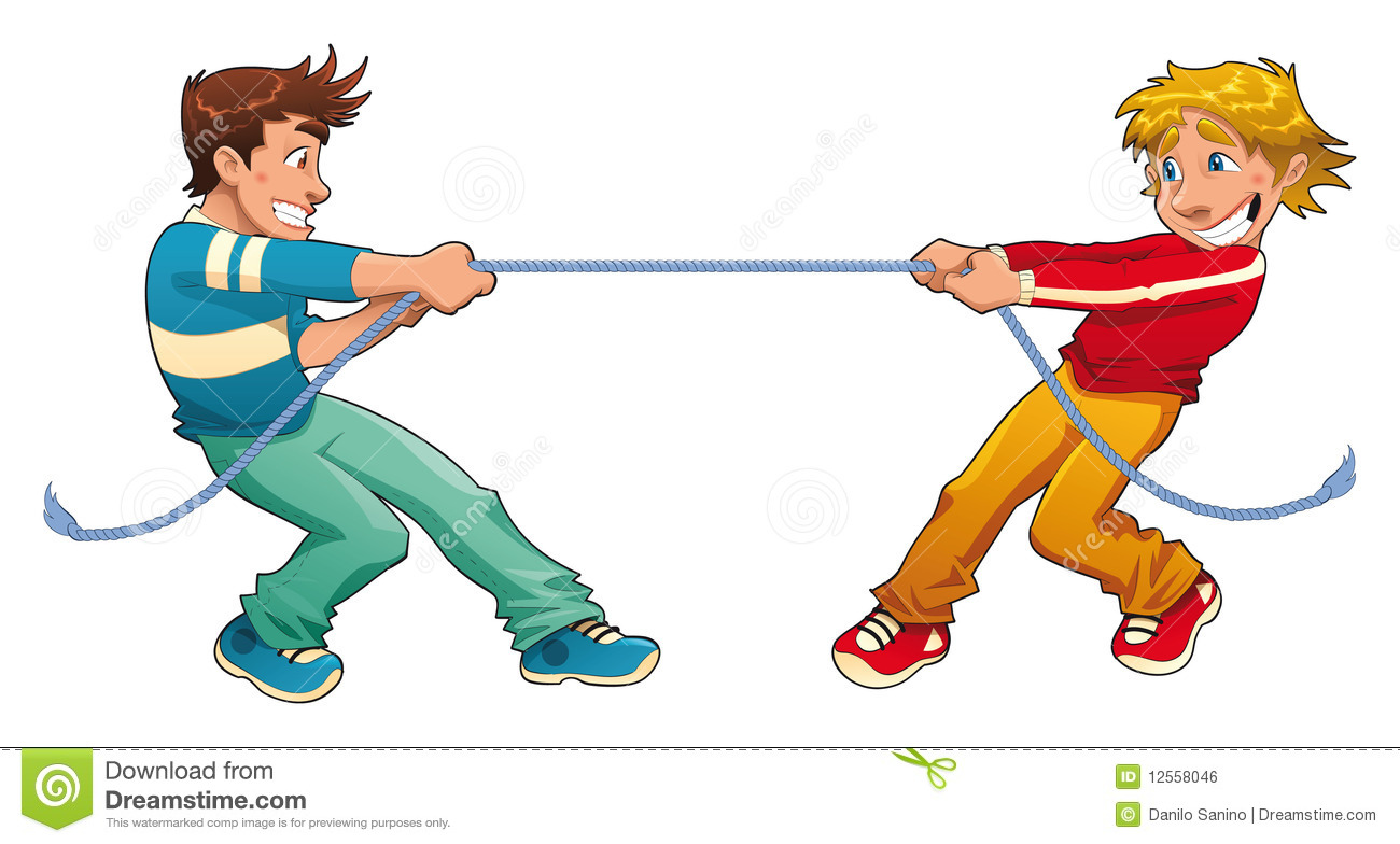 Tug Of War Royalty Free Stock Image Image 12558046