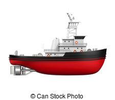 ... Tugboat Isolated - Tugboat isolated on white background. 3D.