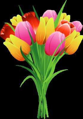 Tulip Bouquet Clip Art Car Interior Design