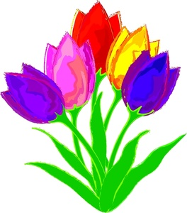 Tulips Clipart Image - Group .