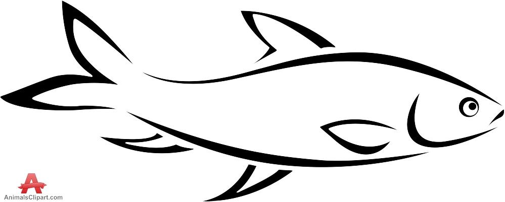 Tuna Fish Outline Clipart