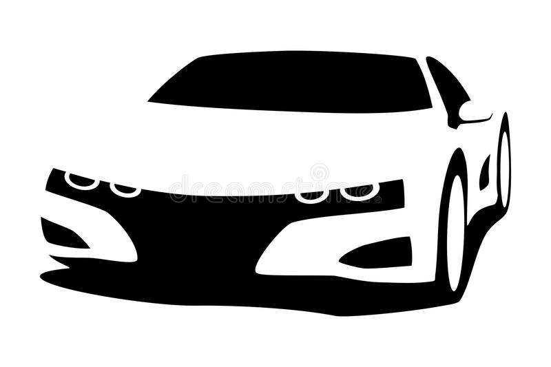 Download Silhouette tuning car stock vector. Illustration of vehicle -  48153963
